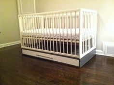 IKEA Hackers: Simple crib with storage. Making our cribs into a toddler bed with a twist!
