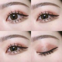 Korean Eye Makeup, Asian Makeup, Eye Makeup Tips, Beauty Makeup, Hair Makeup, Cute Makeup, Makeup Looks, Ulzzang Makeup, Vision Eye