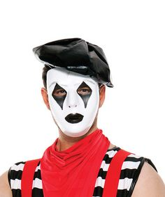 French Mime Mask #zulily #zulilyfinds