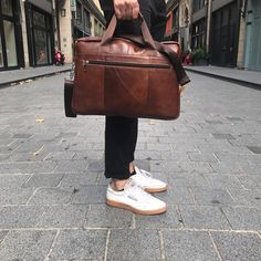 laptopbag bag brown real leather shop now at safekeepers