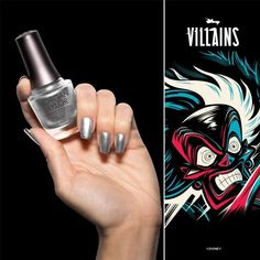 Chanel Your Inner Villain With The Villains Collection From Morgan Taylor! Disney Inspired Nails, Morgan Taylor, Professional Nails, Disney Villains, New Product, Color Street, Metallic, Chanel, Gardening