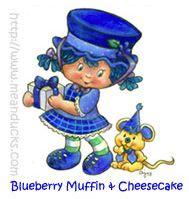 Vintage blueberry muffin