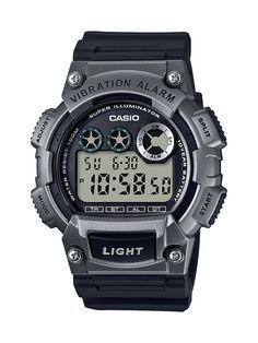 Casio Men's Gunmetal Digital Sport Watch, Multicolor