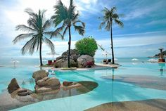 Infinity pool at The Imperial Samui Hotel located on Chaweng Noi Beach, Koh Samui, Thailand