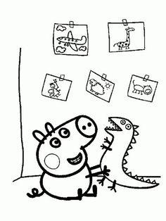 dibujo de peppa pig para colorear  Buscar con Google