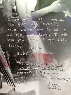 Chris Kyle - A note from his children. I can't even...