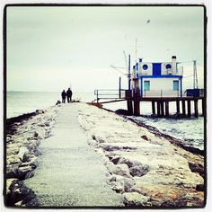 Pier of Marina Romea, Ravenna - Instagram by loragio