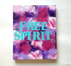 Free Spirit bohemian acrylic canvas painting for by StarrJoy16