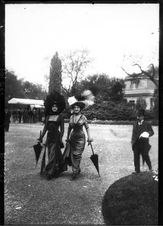 """1908 Longchamp Racecourse. """"spectators called the three women a """"monstrosity"""", accused them of being semi-naked and showing revolting décolletage."""""""