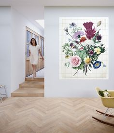 Bouquet of Flowers Power Trip, Design Shop, House Design, Rose Violette, Wall Murals, Wall Art, Clock Wall, Unique Wall Decor, Home And Living