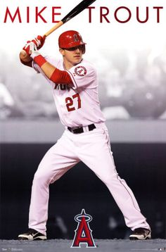 Los Angeles Angels of Anaheim Mike Trout Poster from AllPosters.com - $8.99
