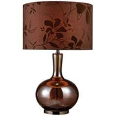 Bronze and Coffee Plated Gourd Table Lamp