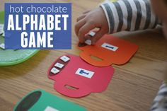 Toddler Approved!: Hot Chocolate Alphabet Matching Game