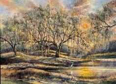 """Peace Like a River"" Acrylic on masonite by John Blowers"