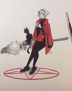 """""""Did I ever tell you how much I love this character ? """"The chilling adventures of Sabrina"""". I'm already in love with the aesthetic and the amazing look of Netflix, Witch Drawing, Witch Cosplay, Teen Witch, Sabrina Spellman, Witch Art, Witch Aesthetic, Fanart, Archie Comics"""