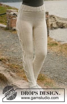 Knitted DROPS tights with cables - free pattern