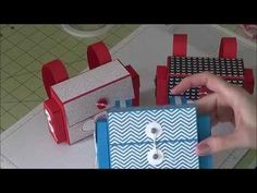 ▶ Stampin Up! - Backpack Style Treat Box - YouTube