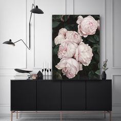 Pink Roses Canvas Art Floral Rose Beautiful Feminine Print Painting Artwork By The Print Emporium