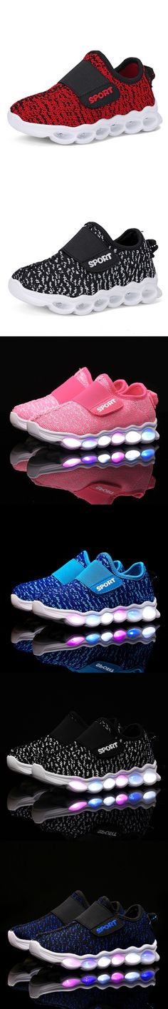 Girls Boys Led Luminous Kids Shoes Color Glowing Casual Fashion Boy With New Simulation Sole Charge for Children Neon Basket