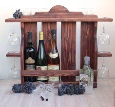 """Купить Полка винная """"Ариша"""", полка деревянная, шкаф для вина - полка винная из…"""