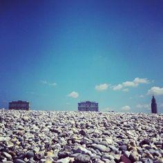 Porte Océane et église Saint-Joseph depuis la plage - ©julienvincelot