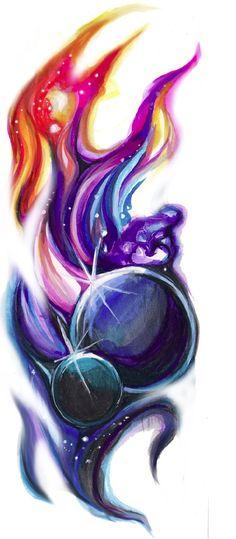 Space Tattoo Design by Lucky978.deviantart.com on @deviantART