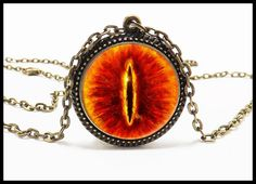 Lord of the Rings Jewelry  Eye of Sauron Pendant  by TheMagicVault, $11.99