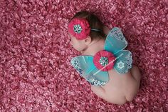 Newborn Butterfly Wings Sweet Blue by ASweetSweetBoutique on Etsy