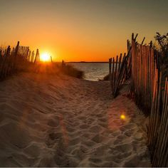 """Sandy sunset at Napatree Point Conservation Area, Westerly, Rhode Island. Photo by @hfederico"""