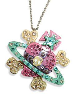 Vivienne Westwood skull and crossbones orb necklace £48.00