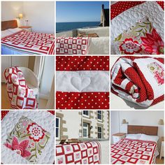Songbird Quilt - my valentine's gift for the man I love Cerise Pink, Sewing Studio, Pin Cushions, Crochet Hooks, Valentine Gifts, Kids Rugs, Colours, Quilts, Blanket