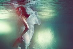 """Available for sale from Wide Painting, Susanne Stemmer, Blossom """"Underwater Photography"""" Print on Ilfoflex mounted on aluminium, plexiglas frame, Ballet Shoes, Dance Shoes, Underwater Photographer, Artsy, Photography, Inspire, Blue, Inspiration, Fashion"""