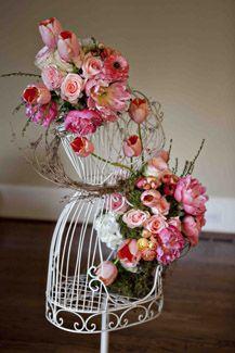 beautiful flowers on dress form
