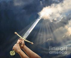 """Using our prayers and fasting as a sword to rend the Heavens above us. """"Sword of the Spirit"""" by Tamer Elsharouni"""