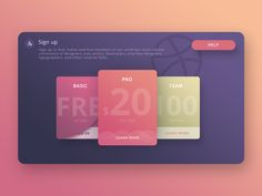 Just experimenting with sign up process of dribbble. Its really a very exciting work and I adore this card and hope to be implement on Dribbble :)
