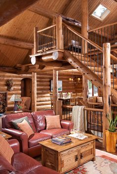 Great Rooms : Montana Log Homes