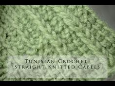 Tunisian Crochet Straight Knit Cables