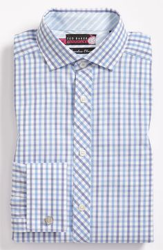 Ted Baker London Trim Fit Easy Iron Dress Shirt