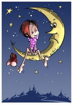 La luna,Liliana cristina Cinetto.Il.lustració Leonid Gamarts