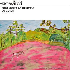 Painting, Bench, Trees at www.art-wired.com