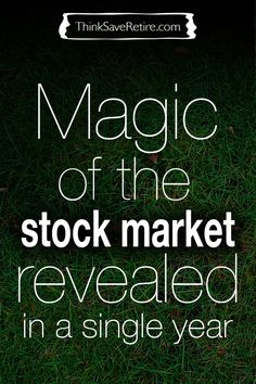 The stock market might seem like magic or sorcery (when we loose money) but it naturally ebbs and flows. As long as you are in it for the long haul historically you have nothing to worry about. Don't believe me? Check this out!