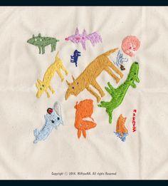 Dogs stitch on Behance