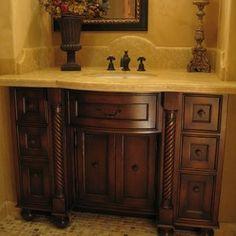 Upstairs guest bathroom cabinet idea?