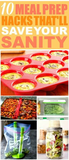 These 10 meal prepping hacks are SO GOOD! I'm so glad I found these AMAZING meal prep ideas! Now I have some great ways to meal prep this week and make meals ahead of time! #mealprep #mealprepping #mealprephacks #mealpreptips #mealprepideas #homehacks