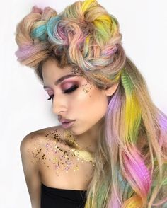 We're obsessed with this kaleidoscopic color and textured style by the uber-talented @leysahairandmakeup @jayrua_glam & @chitabeseau with @pinkpewter & @pulpriothair Amazing work guys! #hairdresser #hairdo #hairstylist #haircolor #hairtransformation #salon #cosmetology #hairpro #hairstyle #hairoftheday http://tipsrazzi.com/ipost/1504784796948310427/?code=BTiEczVgymb