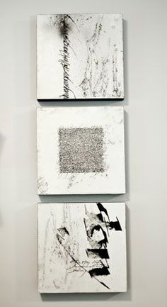 Nancy Crawford - Encaustic and expressive calligraphy - Text Fragments