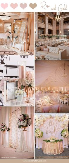 30 Glamorous Rose Gold Wedding Decor