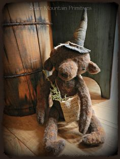 Grungy lil' Witch Bear https://www.facebook.com/pages/Starr-Mountain-Primitives/228548684018?ref=bookmarks