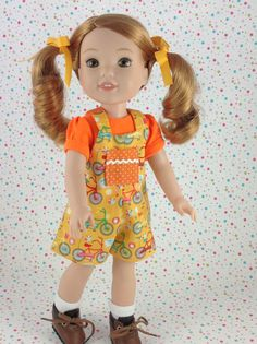 14 inch doll clothes-2-Pc HalterAlls and Tee Shirt set- fits Wellie Wishers size dolls