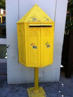 iSunday Fer Verrou Lettre Bo/îte Vintage Support Mural Boite aux Lettres Courrier Postal Lettre Rouge